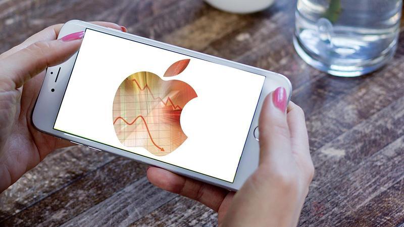 Gráfica de las finanzas de Apple en su último trimestre
