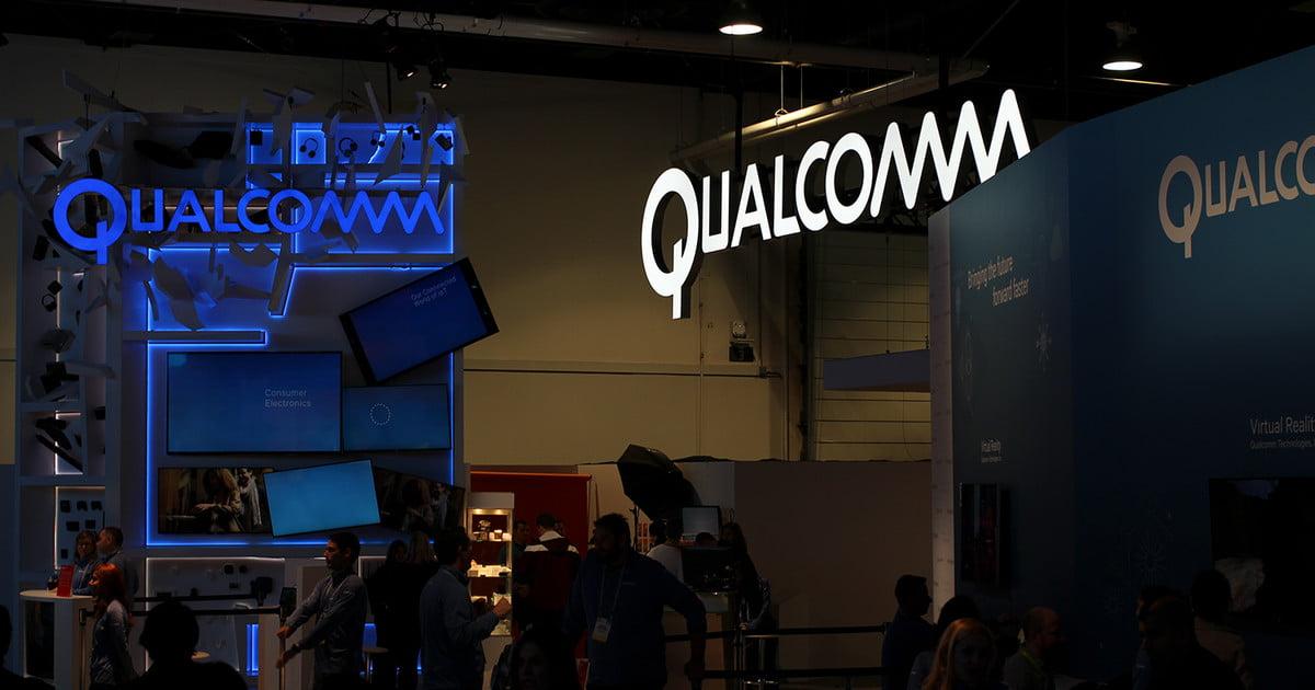 Logo de Qualcomm y iPhone