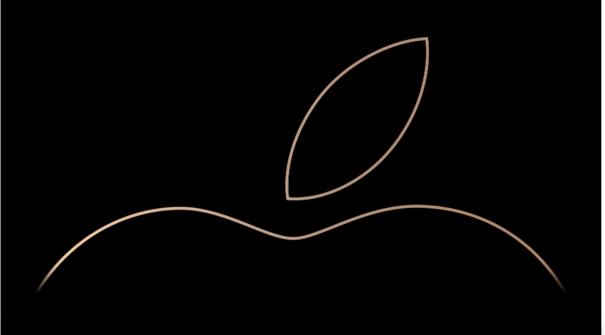 Logo de Apple en la presentación de sus nuevos equipos