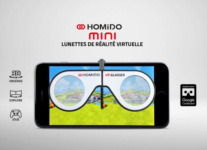 Llegan los lentes VR con clip Homido Mini