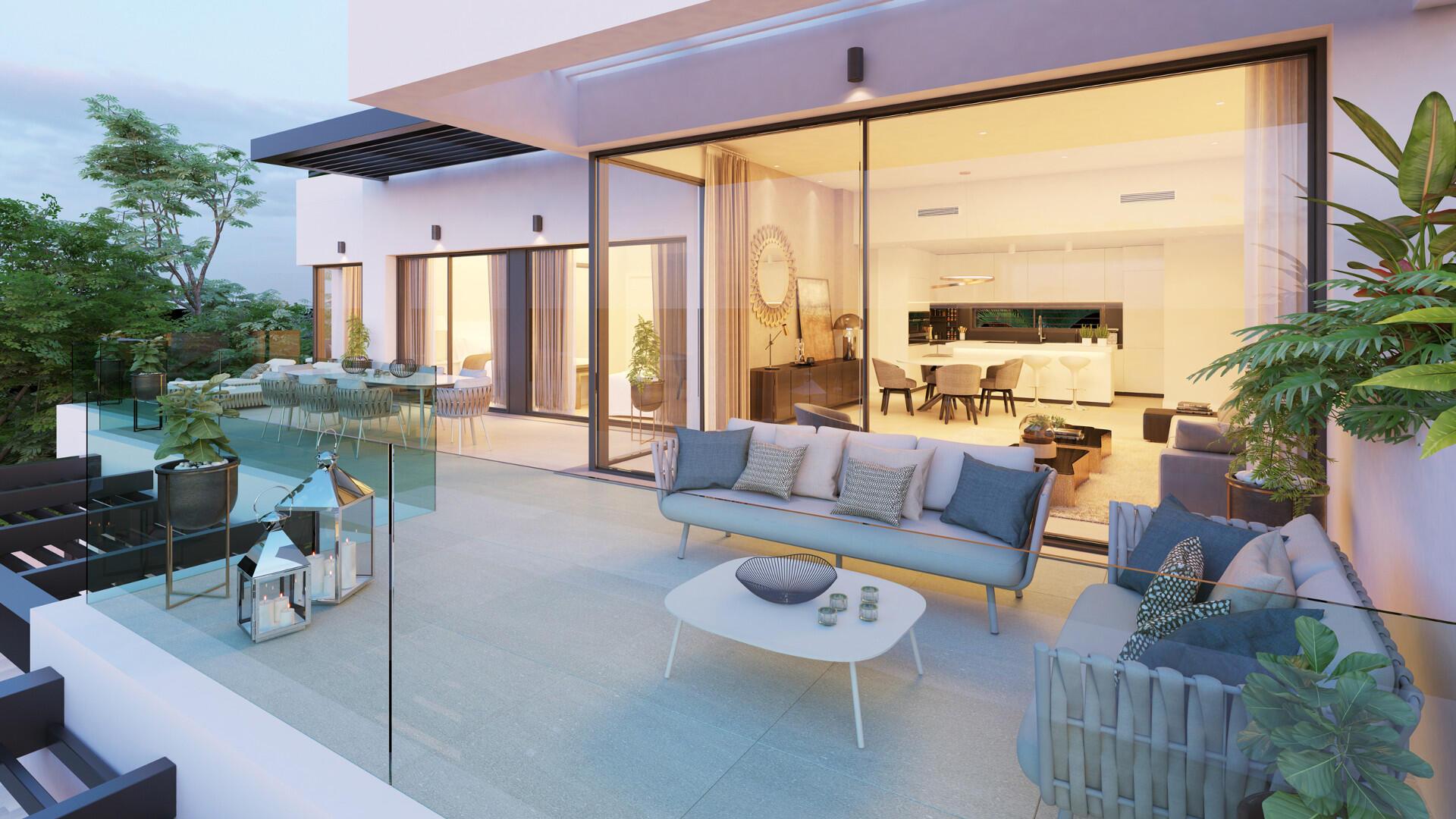 Diseños encantadores para penthouse