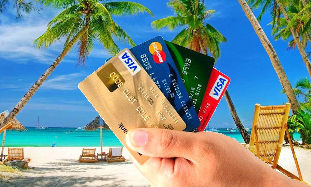 playa con tarjetas de crédito para viajar